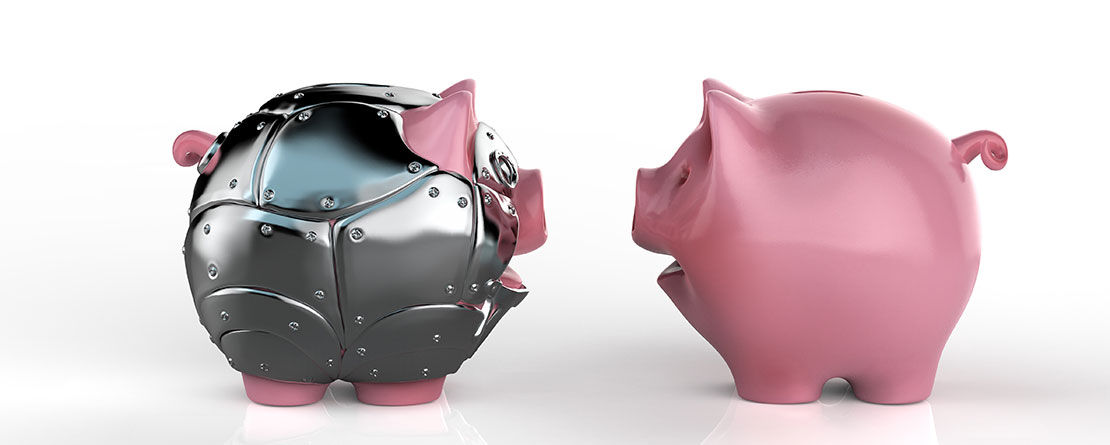 Piggy bank - protecting finances